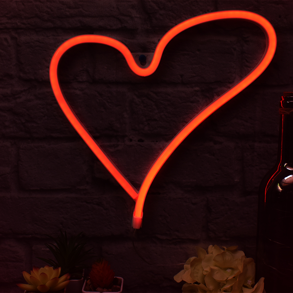 Heart Neon Wall Light-