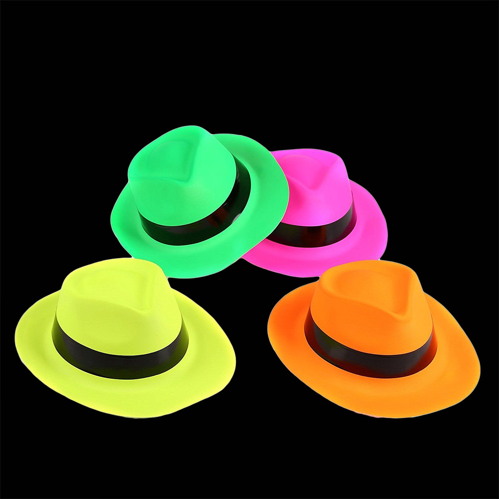 12 pack Neon Gangster Hats